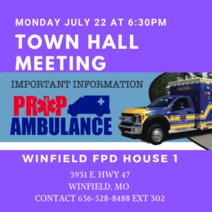 Town Hall Meeting Winfield @ Winfield/Foley Fire House 1   Winfield   Missouri   United States